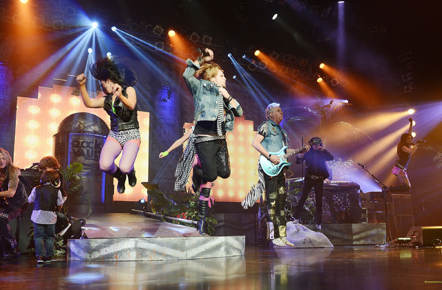 "Andrew Freeman and Howard Leese perform in ""Raiding the Rock Vault"" at the LVH. (Photo by Denise Truscello/WireImage)"