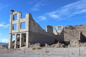 Rhyolite''s largest ruin is the three-story Cook Bank Building. Built in 1908, it also served as home to the post office and several businesses. (Las Vegas Review-Journal file photo)