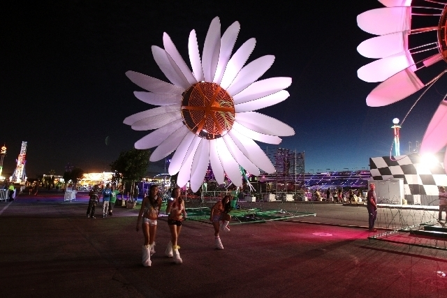 Revelers arrive in 2011 for the Electric Daisy Carnival at Las Vegas Motor Speedway. (Kevin Cannon/Las Vegas Review-Journal)