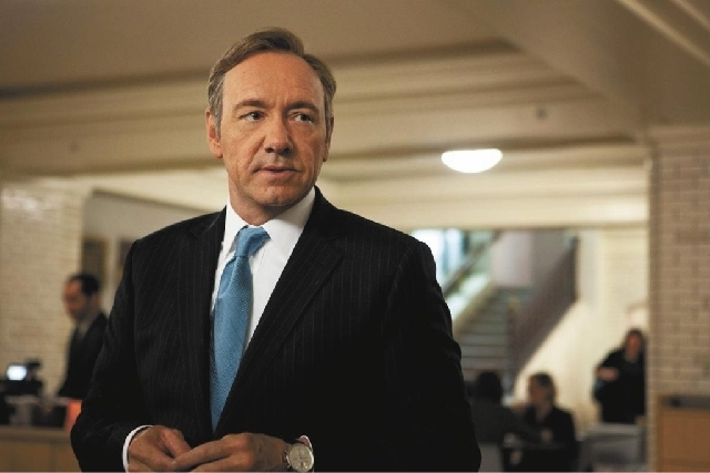 "Kevin Spacey as U.S. Congressman Frank Underwood in the Netflix original series, ""House of Cards."" (Courtesy)"