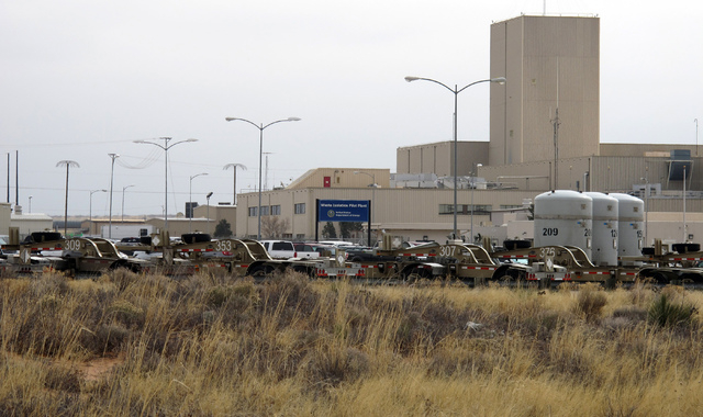 The Waste Isolation Pilot Plant in Carlsbad, N.M. Officials held a news conference to discuss preliminary test results that indicate 13 workers worker were exposed to radiation during a leak Feb.  ...