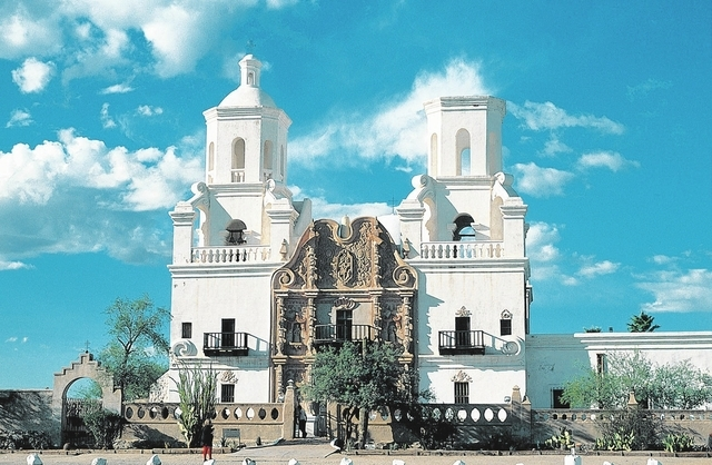 This undated image released by Visit Tucson shows  the Mission San Xavier del Bac, about 12 miles from Tucson, Ariz. More than 300 years old, the mission remains an active place of worship on the  ...