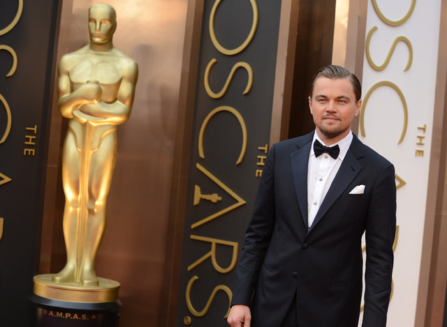 Leonardo DiCaprio arrives at the Oscars on Sunday at the Dolby Theatre in Los Angeles. (Jordan Strauss/Invision/AP)