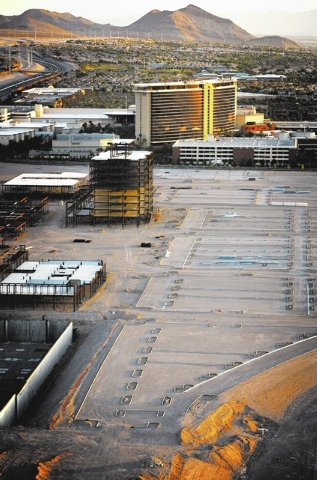 The site of the delayed Shops at Summerlin, near the Las Vegas Beltway between Sahara Avenue and Charleston Boulevard,  as seen Friday, June 15, 2012. Howard Hughes Corporation announced that Macy ...