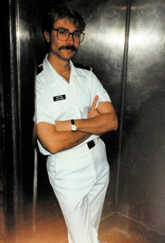 This is a photo of Dennis Dunn during his employment with a cruise ship in Hawaii in the late 1980s. Dunn has battled the AIDS virus since contracting it in Hawaii in the early 1980s. (Photo provi ...