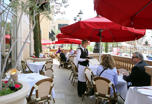 Betty Metzger Center Takes An Order At Morels French Steakhouse Bistro The