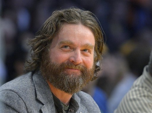 """President Barack Obama is hamming it up online to promote his health care plan. Obama joked Tuesday with Zach Galifianakis, pictured, including poking fun at the poorly reviewed """"Hangover Part III ..."""