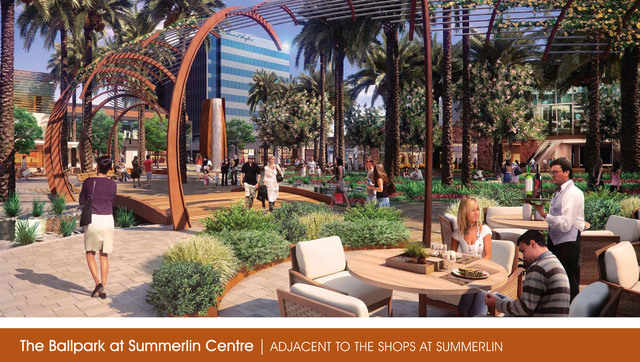 Artists rendering, The Ballpark at Summerlin Centre, adjacent to the Shops at Summerlin, submitted Friday, April 5, 2013. (Courtesy photo)