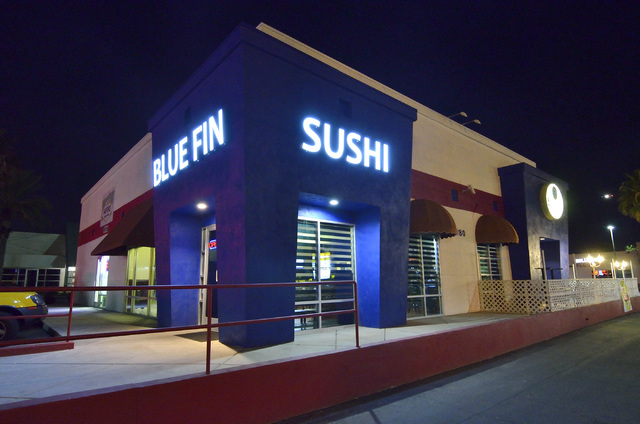 The exterior of Blue Fin Sushi is shown at 3980 E. Sunset Road in Las Vegas on Saturday, Feb. 22, 2014. (Bill Hughes/Las Vegas Review-Journal)