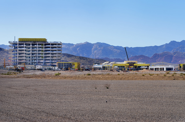 The job site for The Shops at Summerlin is shown on the northeast corner of Sahara Avenue and the 215 Beltway in Las Vegas on Tuesday, March 18, 2014. (Bill Hughes/Las Vegas Review-Journal)