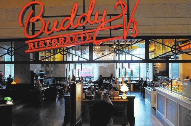 Buddy V's Ristorante at The Venetian casino-hotel in Las Vegas is seen during dinner service Saturday, March 22, 2014. (Erik Verduzco/Las Vegas Review-Journal)