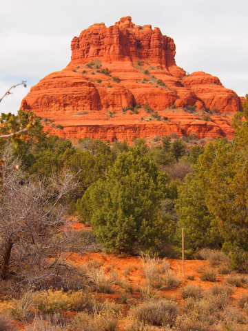 """Bell Rock, near the Village of Oak Creek, is a popular attraction for Sedona visitors. It is considered a """"vortex,"""" or a place with high spiritual energy. (Carri Geer/Las Vegas Review-Journal)"""