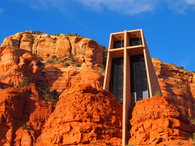 The Chapel of the Holy Cross, an iconic Sedona landmark, was built in 1956 and is believed to sit on a vortex site. (Carri Geer/Las Vegas Review-Journal)