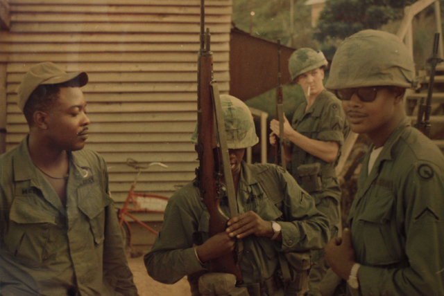 An old photo of Willie McTear (on the left). McTear served in Charlie Company of the Army 9th Division's 4th Battalion, 47th Infantry Regiment during the Vietnam War. (Handout/Las Vegas Review-Jou ...