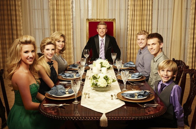"""From left, Savannah Chrisley, Lindsie Chrisley Campbell, Julie Chrisley, Todd Chrisley, Kyle Chrisley, Chase Chrisley, Grayson Chrisley star in the USA reality show """"Chrisley Knows Best.&quot ..."""