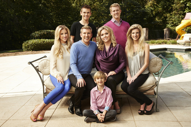 """From left, Savannah Chrisley, Todd Chrisley, Chase Chrisley, Grayson Chrisley, Julie Chrisley, Kyle Chrisley and Lindsie Chrisley Campbell star in the USA reality series """"Chrisley Knows Best. ..."""