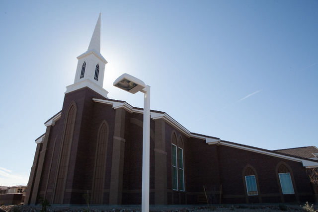 The Church of Jesus Christ of Latter-day Saints' Cimarron Meetinghouse, 9485 S. Cimarron Road, opened to the public Feb. 22. The meetinghouse is the church's 97th chapel in Southern Nevada. (Spec ...