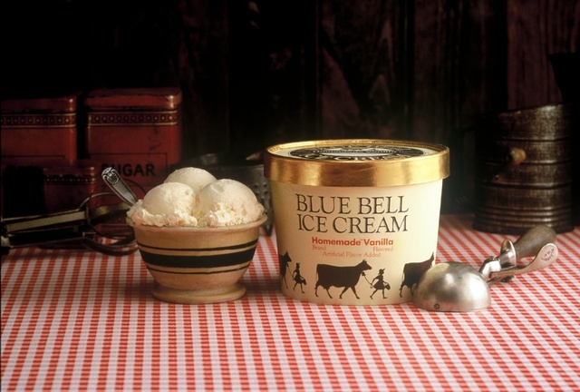 Blue Bell's Classic Homemade Vanilla, the brand's flagship flavor, is seen in this courtesy photo. On March 3, Blue Bell Ice Cream is opening a 12,000-square-foot distribution facility at 6957 Spe ...