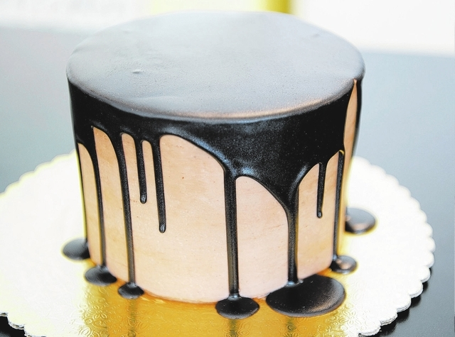 The chocolate fountain cake is seen at the Retro Bakery in Las Vegas, Tuesday, March 11, 2014. (Jerry Henkel/Las Vegas Review-Journal)