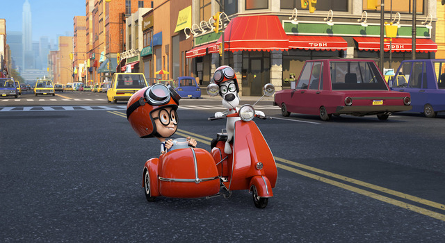 Mr. Peabody (Ty Burell) and his boy Sherman (Max Charles) travel in style, even when they're not journeying through time. (Courtesy)