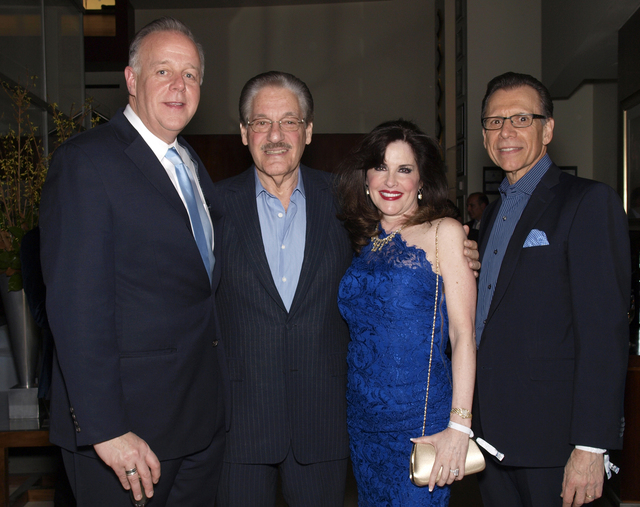 Jerry Nadel, from left, Morgan and Karen Cashman, and Michael Severino (Marian Umhoefer/Las Vegas Review-Journal)