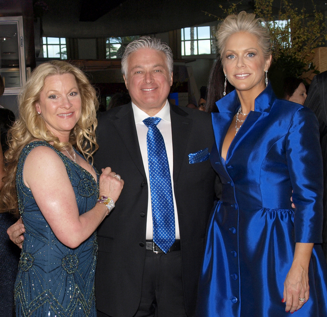 Theresa and Michael Minden, from left, and Catherine Bachand (Marian Umhoefer/Las Vegas Review-Journal)