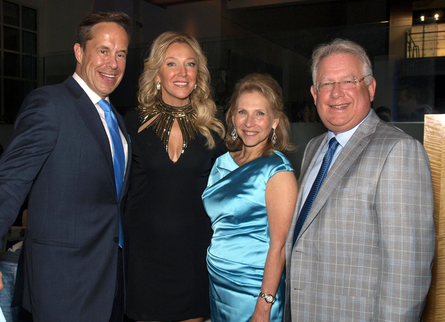 Jeffrey Latimer, from left, Heather Acheson, Shari Redstone and Carl Goldberg (Marian Umhoefer/Las Vegas Review-Journal)