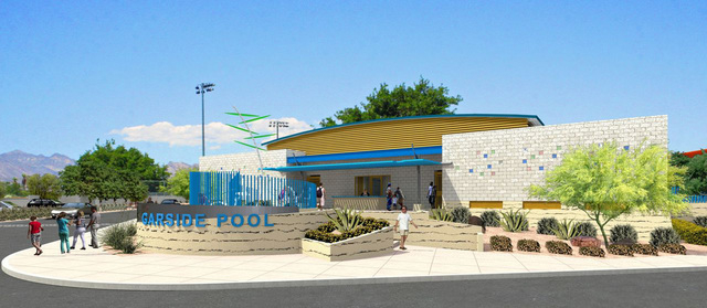 A rendering shows the new Garside Pool, slated to open by summer. (Special to View)