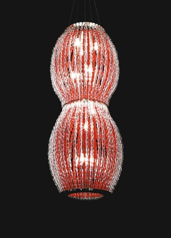 Photo courtesy of La Murrina.  This light may not fit all budgets, but the sheer fact that it's red and bright could give you ideas for others you may like.