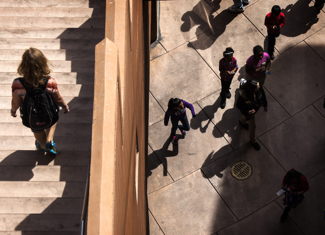 People as seen at the Hoover Dam Parking Garage on Thursday, March 20, 2014. Southern Nevada forecast calls for temperatures in the high 70's through the weekend. (Jeff Scheid/Las Vegas Review-Jou ...