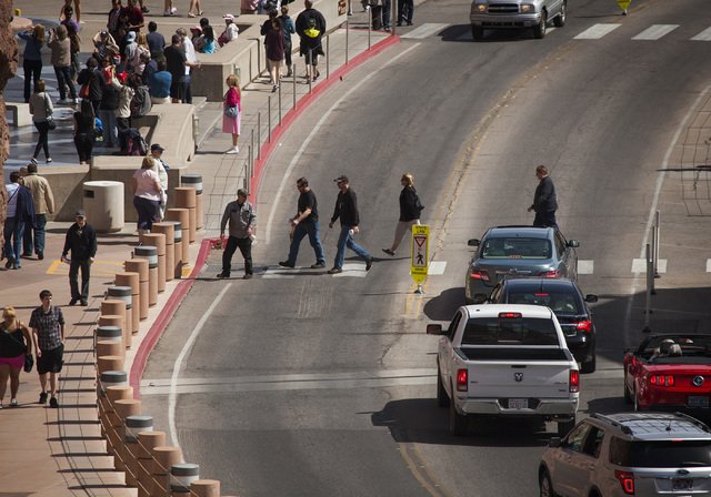 People as seen at the Hoover Dam on Thursday, March 20, 2014. Visitation has dropped since the 2010 opening of the OՃallaghan-Tillman Memorial Bridge (Jeff Scheid/Las Vegas Review-Journal)