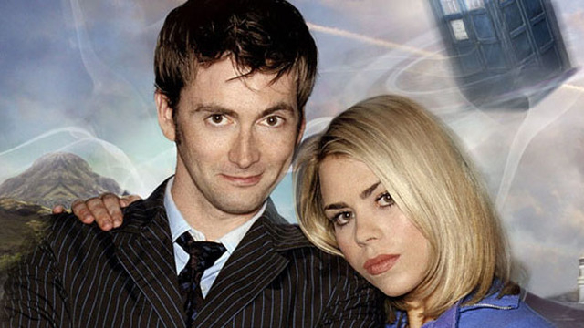 David Tennant as Who, and Billie Piper as Rose. (Courtesy)