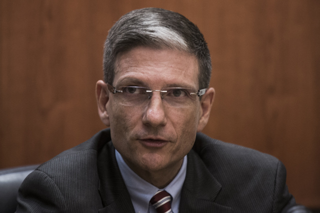 U.S. Rep. Joe Heck meets with the editorial board at the Las Vegas Review-Journal in this file photo. (Jeff Scheid/Las Vegas Review-Journal File)
