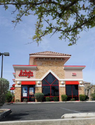 A general view of the front of Arby's restaurant is seen at 7035 N. Durango Dr. on Friday, March 28, 2014. (David Becker/Las Vegas Review-Journal)