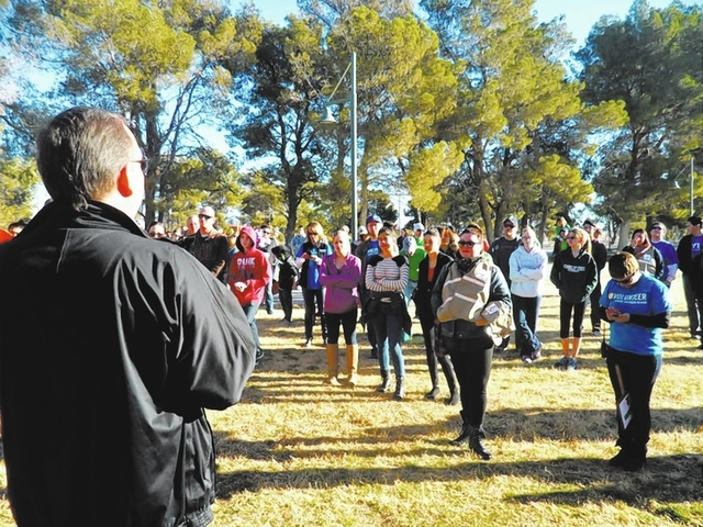 Volunteers are instructed during the Martin Luther King Day of Service at Craig Ranch Regional Park, 628 W. Craig Road, on Jan. 20 in North Las Vegas. (Special to View)