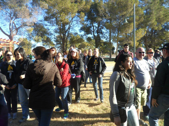 Volunteers wait to participate during the Martin Luther King Day of Service at Craig Ranch Regional Park, 628 W. Craig Road, on Jan. 20 in North Las Vegas. (Special to View)