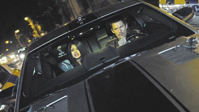 "Selena Gomez and Ethan Hawke star in ""Getaway,"" from Warner Bros."