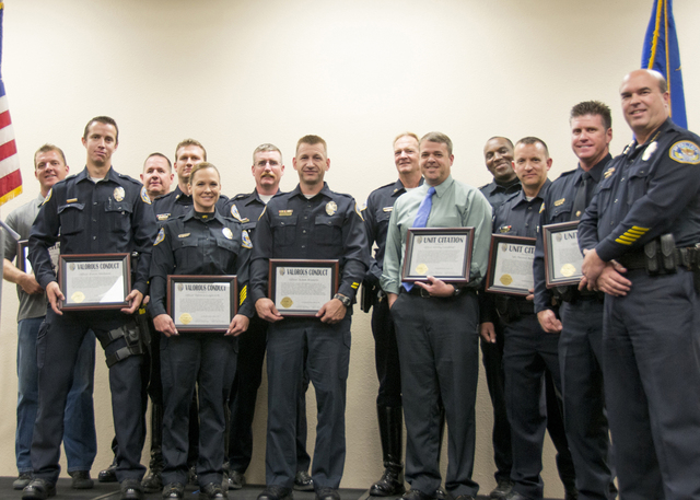 The Henderson Police Department honored officers, civilian employees and members of the community during the department's annual Commendation Ceremony March 6 at the Henderson Convention Center. ( ...