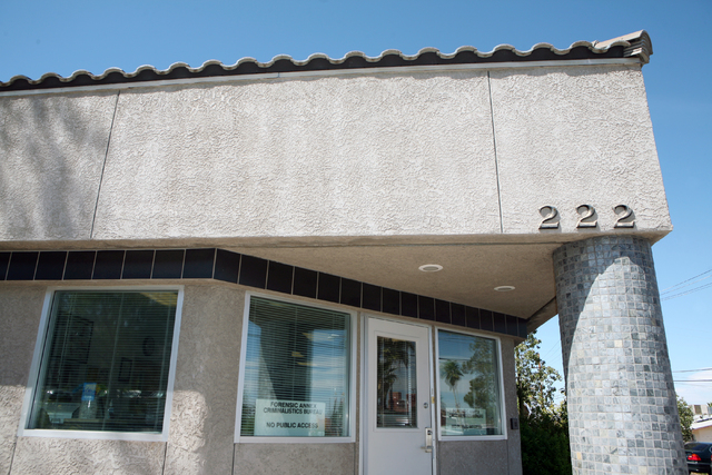The Forensic Annex Criminalistics Bureau, located at 222 Lead Street, is shown Monday, March 31, 2014, in Henderson. Henderson City Council is slated to discuss the approval of a $70,000 contract  ...