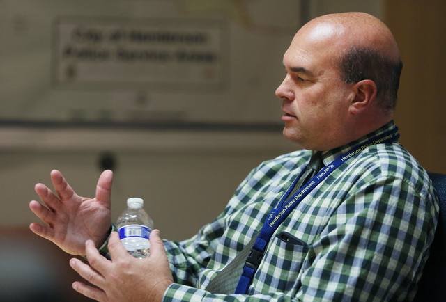 Henderson Police Chief Patrick E. Moers speaks during an interview at Henderson Police Station March 31, 2014. Henderson City Council is slated to discuss the approval of a $70,000 contract Tuesda ...