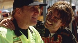 Harry Hogg, left, a character played by Robert Duvall in the movies, inspired Kyle Busch's victory at Auto Club Speedway in California, said the veteran Sprint Cup driver from Las Vegas. (YouTube)