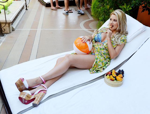 Holly Madison attends the season opening of TAO Beach at the Venetian Hotel and Casino on May 4. (Photo by Denise Truscello/WireImage)