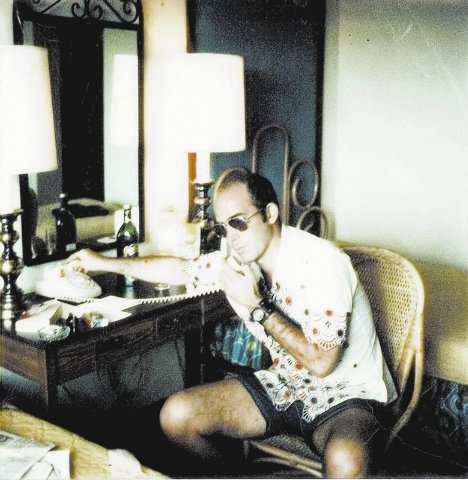 """FILE*** In this undated image provided by Magnolia Pictures, Hunter S. Thompson is shown in a promotional photo from the film, """"Gonzo: The Life and Work of Dr. Hunter S. Thompson."""" (AP P ..."""