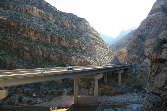 Virgin River Bridge No. 6 will be rehabilitated in a two-year, $27 million project. (Courtesy of Arizona Department of Transportation)