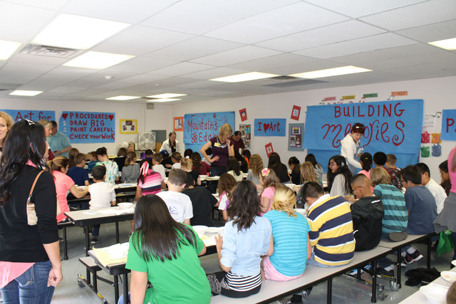 About 380 Reedom students decorated tiles, March 4. (Special to View)