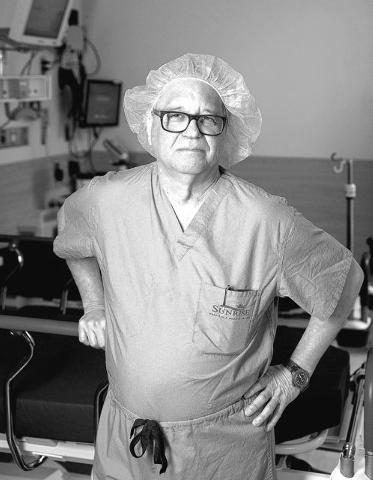 Dr. Joseph Thornton poses inside Sunrise Hospital and Medical Center on Friday, Feb. 7, 2014. (Samantha Clemens/Las Vegas Review-Journal)