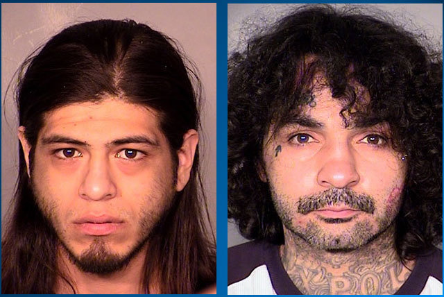 Joseph Ramirez, left, and Rudy Rivera, both of California, were arrested after a series of raids on marijuana grow houses raids throughout the Las Vegas Valley between Jan. 23 and Jan. 28. (Las Ve ...