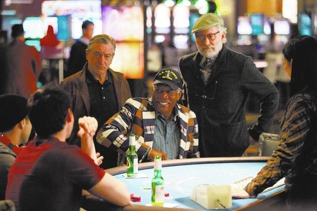 Robert De Niro (as Paddy Connors), Morgan Freeman (as Archie Clayton), and Kevin Kline (as Sam Harris) star in CBS Films' comedy LAST VEGAS. Photo Credit: Chuck Zlotnick