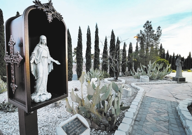 One of the entrances to a labyrinth at St. Andrew's Catholic Community at 1399 San Felipe Drive in Boulder City is shown on Tuesday, March 25, 2014. (Bill Hughes/Las Vegas Review-Journal)