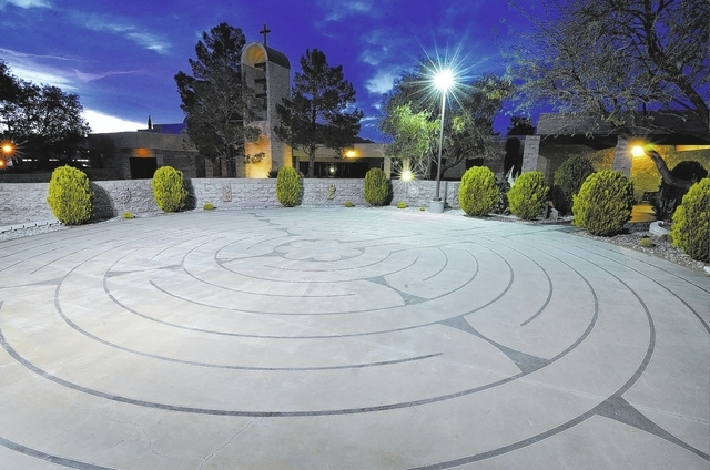 A labyrinth at St. Andrew's Catholic Community at 1399 San Felipe Drive in Boulder City is shown on Tuesday, March 25, 2014. (Bill Hughes/Las Vegas Review-Journal)